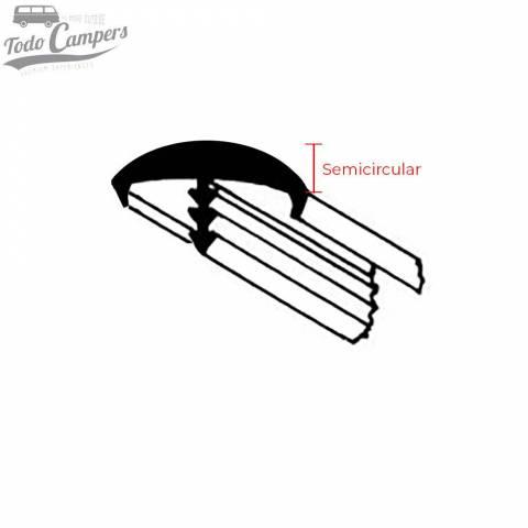 Canto en T Perfilado semicircular