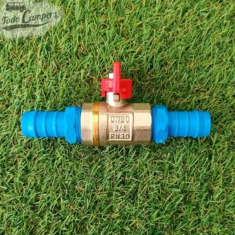 """Llave de paso de latón para instalaciones de agua 3/4"""" (19 mm)"""