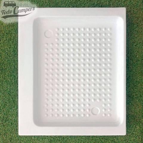 Plato de ducha blanco 830 x 670  mm - Encastrable