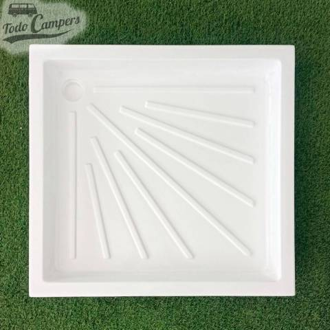 Plato de ducha blanco 725 x 680 mm - Encastrable