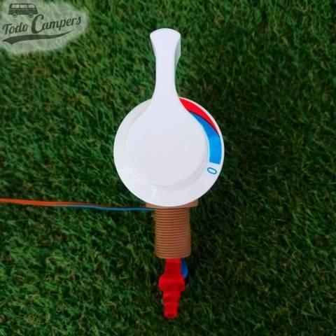 Mezclador monomando modelo REICH con conexión de 1/2 pulgada para mezclar agua fría y caliente en tu ducha camper