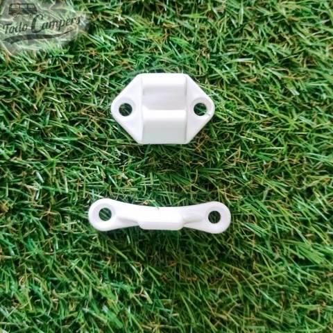 Cierre de retención para cajones de plástico blanco - Reimo
