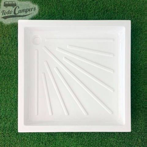 Plato de ducha blanco 665 x 665 mm - Encastrable
